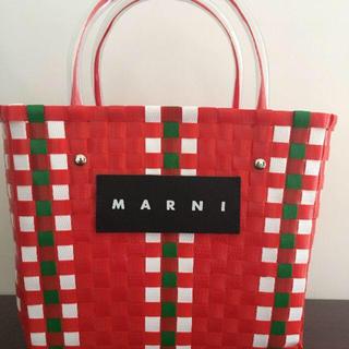 マルニ(Marni)のmarni マルニ フラワーカフェ ピクニックバッグ(かごバッグ/ストローバッグ)