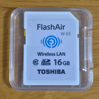 トウシバ(東芝)の東芝 フラッシュエアー 16GB W-03 中古美品(その他)