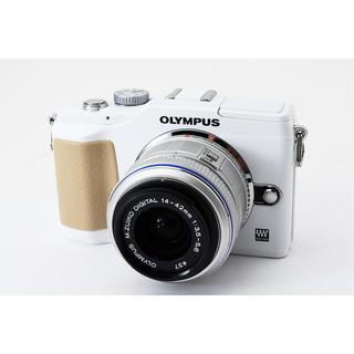 オリンパス(OLYMPUS)の☆スマホに写真を送れる☆オリンパス E-PL2 ホワイト レンズキット(ミラーレス一眼)