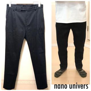 ナノユニバース(nano・universe)のnano univers股上深めチノパン黒パンツ送料込(チノパン)