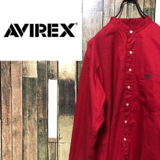 アヴィレックス(AVIREX)の【激レア】アヴィレックスAVIREX☆刺繍ロゴ入りノーカラー長袖シャツ(シャツ)