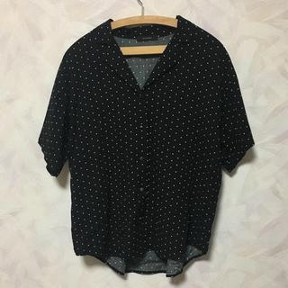 ジーナシス(JEANASIS)のJEANASIS ドットカイキンシャツ(シャツ/ブラウス(半袖/袖なし))