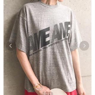 アメリカーナ(AMERICANA)の新品未使用 ビッグシルエットロゴTシャツ グレー アメリカーナ(Tシャツ(半袖/袖なし))