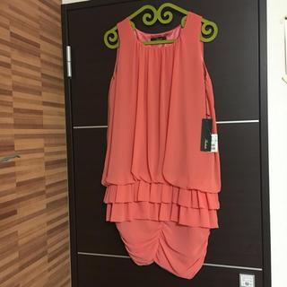 スコットクラブ(SCOT CLUB)のRadiate 定価21000円 新品タグ付き上品なオレンジシフォンのドレス(その他ドレス)