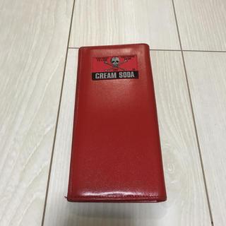 シックスシックスシックス(666)のcream soda 本革長財布 ウォレット 赤 クリームソーダ(長財布)