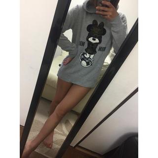 ミニーちゃん♡フード付きパーカー (パーカー)