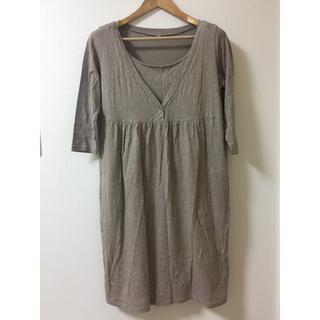 ムジルシリョウヒン(MUJI (無印良品))の授乳服 ワンピース 無印良品(マタニティウェア)