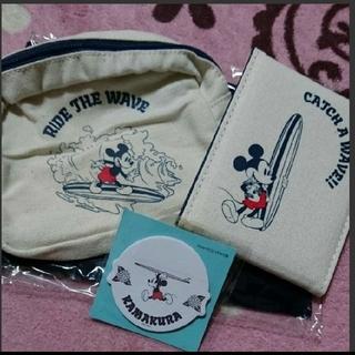 ディズニー(Disney)のミッキー ポーチ ミラー 付箋 セット (ポーチ)