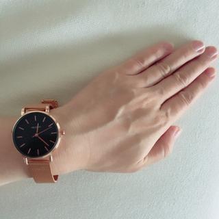 ディーホリック(dholic)の新品dholic ローズゴールド腕時計 箱付き(腕時計)