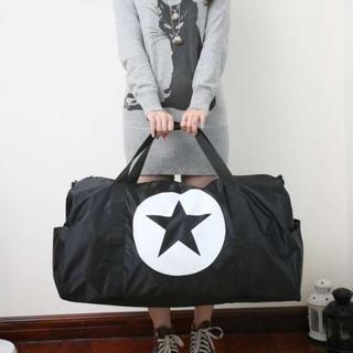 定番人気★特大 大容量 星 ボストンバッグ 旅行 バッグ 鞄 ブラック(スーツケース/キャリーバッグ)