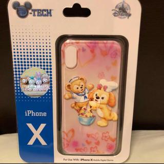 ディズニー(Disney)の【香港ディズニー限定】・ダッフィー&クッキーバージョンiphoneX 携帯ケース(iPhoneケース)