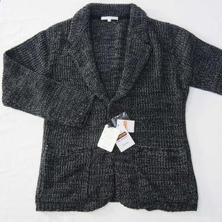 【新品】SUGGESTION カーディガン ブラック 黒系 L (6)(カーディガン)