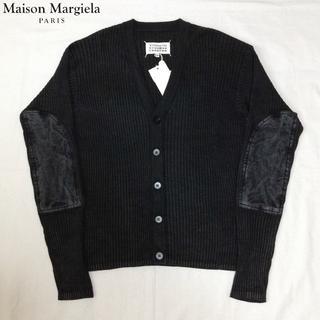 マルタンマルジェラ(Maison Martin Margiela)の新品■マルジェラ 17ss■エルボーパッチ ニット■カーディガン■黒■3973(カーディガン)