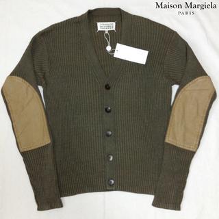マルタンマルジェラ(Maison Martin Margiela)の新品■マルジェラ 17ss■エルボーパッチ ニット■カーディガン■緑■3973(カーディガン)
