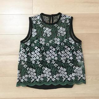 マメ(mame)のmame 刺繍レーストップス(シャツ/ブラウス(半袖/袖なし))