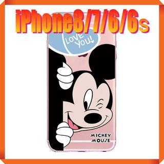 ディズニー(Disney)の★180712★ ミッキー iPhone 8/7/6/6s ソフトケース ★(iPhoneケース)