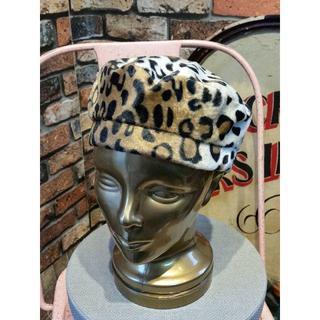 スライ(SLY)の【送料込み】SLY スライ レオパード柄 ベレー帽 ロシアン帽 F(ハンチング/ベレー帽)