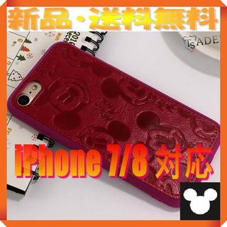 ディズニー(Disney)の★180719★ ミッキーマウス ♪iPhone 7/8♪ PUレザーケース★(iPhoneケース)