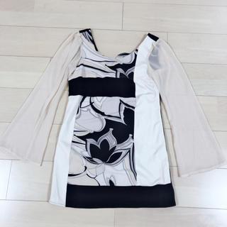 TIKA プッチ柄 ワンピース ドレス シフォン(ミニドレス)