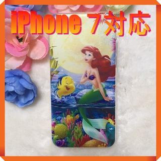 ディズニー(Disney)の★180735★ アリエル iPhone 7 ソフトケース ★(iPhoneケース)