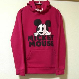 ◆ミッキーマウス/USA古着 パーカー(L)(パーカー)