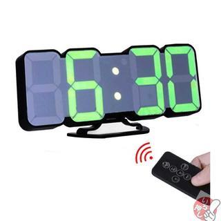 EAAGD 3D ワイヤレスリモートデジタル目覚まし時計壁掛け時計ー11(置時計)