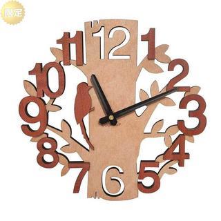 GIFT GARDEN 掛け時計 時計 木製 鳥と木の組合(置時計)