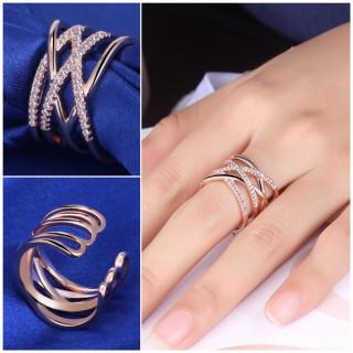 【大人気/シルバー925】18金コーティング 編みデザイン リング(リング(指輪))
