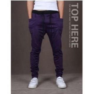 超人気のジョガーパンツ パープル 紫 Mサイズ スウェット(その他)