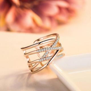 【高品質/シルバー925刻印有り】18金コーティング 編みデザイン リング(リング(指輪))