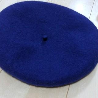 ベレー帽 ネイビー(ハンチング/ベレー帽)