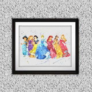 Disney - 日本未発売!ディズニープリンセス2・アートポスター【額縁つき・送料無料!】