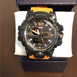 新品☆腕時計  SMAEL ビッグフェイス ブラック イエロー(腕時計(アナログ))