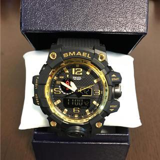 新品☆腕時計  SMAEL ビッグフェイス ブラック ゴールド(腕時計(アナログ))