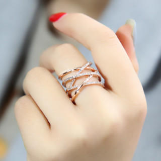 【大特価/シルバー925刻印有り】18金コーティング 編みデザイン リング(リング(指輪))