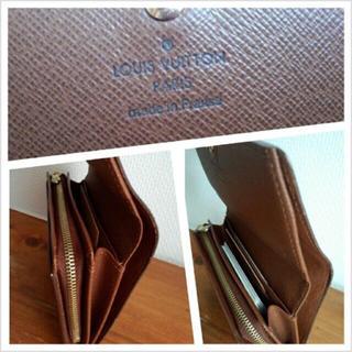 ルイヴィトン(LOUIS VUITTON)のモノグラム財布 二つ折り(財布)