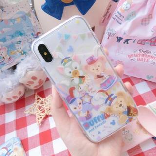 ディズニー(Disney)の日本未発売 ダッフィーマーチングファン スマホケース 数量限定(iPhoneケース)