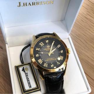 値下交渉❤️J.HARRISON 腕時計 天然ダイヤモンド付き 定価49800円(腕時計(アナログ))