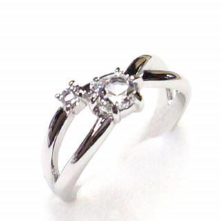 ピンキーリング シルバー925 クリア 指輪 スワロフスキー社製クリスタル(リング(指輪))