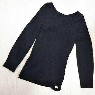 高級ワコールwingレディースインナーシャツ!ブラック!サイズM~L(アンダーシャツ/防寒インナー)