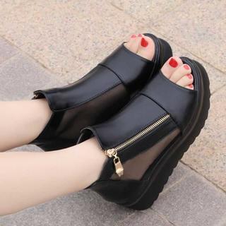 オルチャン風♡美脚ブーツサンダル スポーティー 韓国ファッション好きに(サンダル)