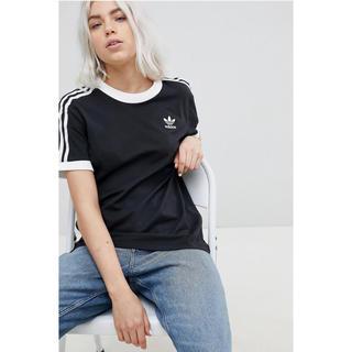 アディダス(adidas)の新品 ブラック XLサイズ adidas★3ストライプ Tシャツ ユニセックス(Tシャツ(半袖/袖なし))