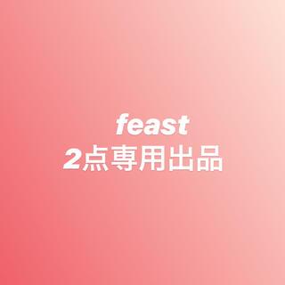 専用出品  feast  赤/ドットグレー 2点(ブラ&ショーツセット)