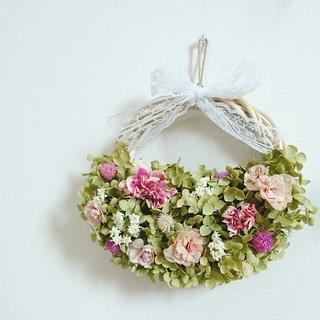 検討中 144☆ドライフラワー リース バラ アナベル 紫陽花(ドライフラワー)