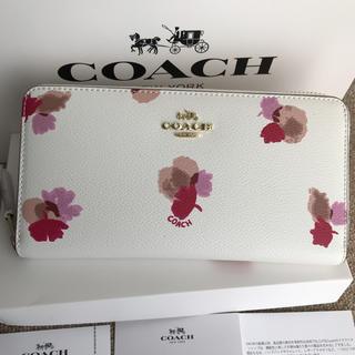 コーチ(COACH)のコーチ 長財布 coach  ラウンドファスナー 花柄 フローラル(財布)