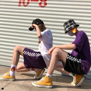 ♡イベントで大活躍♡ ハーフパンツ サイドライン チェック 韓国 ダンス(カジュアルパンツ)