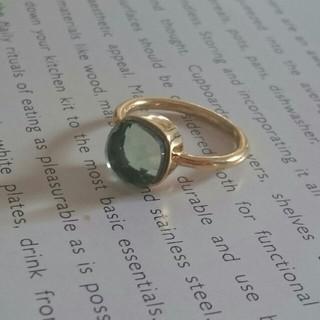 プラシオライト グリーンアメジストのキャンディリング インドジュエリー(リング(指輪))