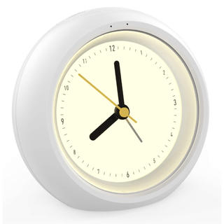 G162 クロック目覚まし時計 ledナイトランプ ミュート 柔らかい白夜灯(置時計)