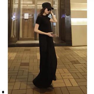 ♡インスタ大人気♡ Tシャツ ロングワンピース マキシ丈 体型カバー(ロングワンピース/マキシワンピース)