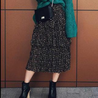 Ameri VINTAGE - 小花柄フリルスカート